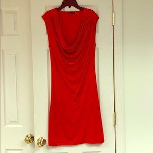 Black Halo Knit Jersey Dress
